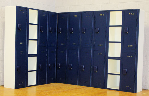 Blue Solid Plastic Lockers